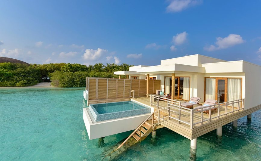 Dhigali Maldives - Private Over water villa with pool