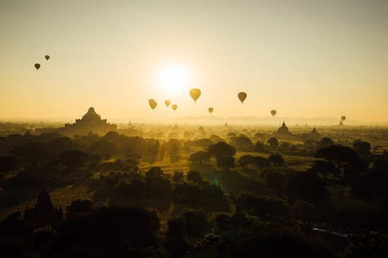 Hot Air Balloon Experience - Myanmar Honeymoon